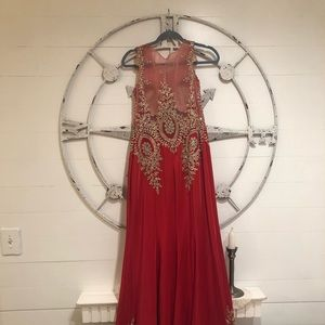 Prom Dress beautiful Red with Sequins